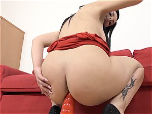 filling her thick delicious bootie with hot jizm after plumbing