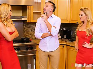 wifey Olivia Austin and ex wife Cherie Deville bashed in the kitchen