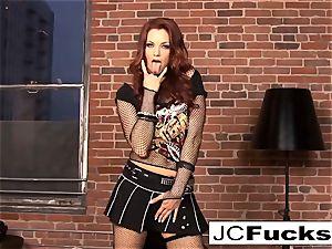 Jayden Cole jams her panties in her honeypot