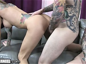 busty tattooed cougar Cams With Joanna Angel