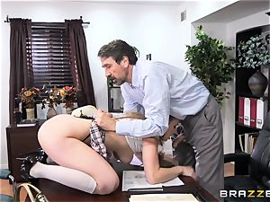 super-naughty student Lena Paul romped by headmaster