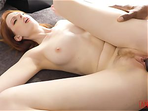 big black cock submerges its way into the butthole of ginger Alex Harper