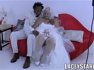 LACEYSTARR - grannie bride fed with jizm after banging