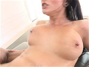 Creaming inside magnificent dark-haired Katrina Jade
