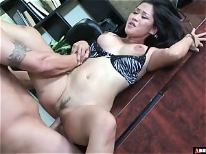 giant asian secretary Roughed The shag Up