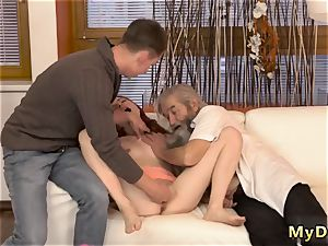 mummy nubile raunchy unexpected experience with an old gentleman
