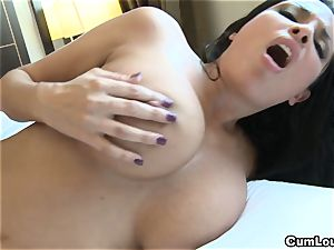 Anissa Kate showing her phat congenital tits in Public