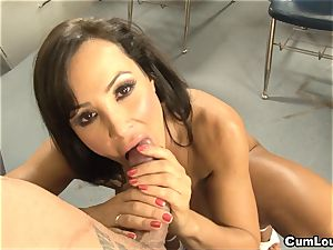 Learning sloppy spanish words with cougar Lisa Ann