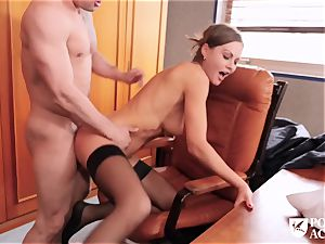 Our fresh teacher Tina Kay revved out to be a real ass-fuck whore