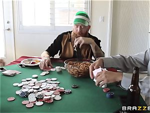 Sarah Jessie drilling her hubbies poker pal