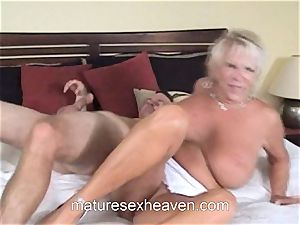 granny Getting Laid While Her hubby observes