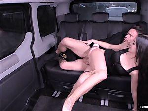 torn up IN TRAFFIC - German Lullu Gun fucks in the car