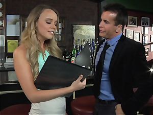 Alexis Adams ravages the boss in the bar
