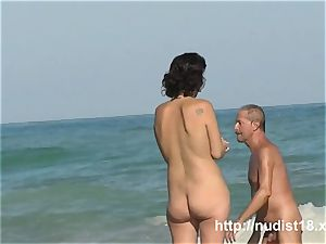 Public beach nudeist gal voyeur movie