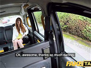 fake cab kinky redhead hotty in muddy shag