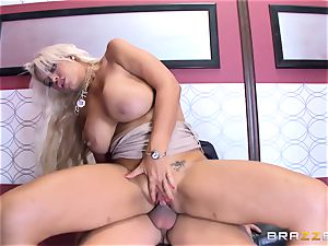 Bridgette B gets more than just being stuck in the hoist