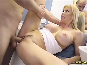 incredible hump with naughty gigantic boobs cougar Alexis Fawx and her stepson