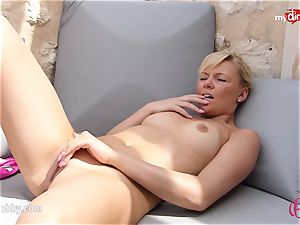 MyDirtyHobby - super-fucking-hot light-haired tugging outdoor!