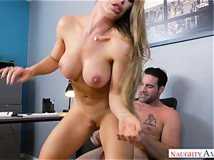 Nicole Aniston penetrating at work