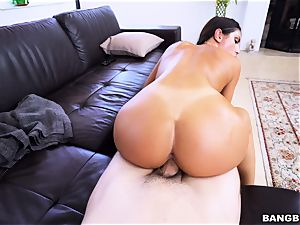 August Ames railing in reverse cowgirl