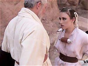older Ben uses the sexual energy with a super hot victim female