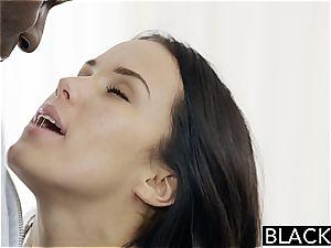 Megan Rain ravaging a ebony manstick