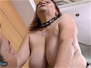 AGEDLOVE humungous breasted old Gloria xxx