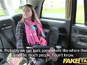 fake cab euro dame humped with rock hard fuck-stick facial cumshot