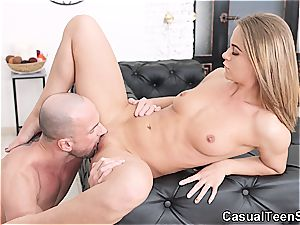 Oranges cause casual sex with lovely blond nubile