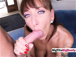 super hot big-titted mummy is soaped up and prepared to get her fuckbox nailed rigid