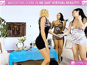 VR porno - Alexis Seducing Her friends to Have a warm fuckfest