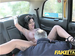 fake cab Frustrated huge-boobed Candy Sexton
