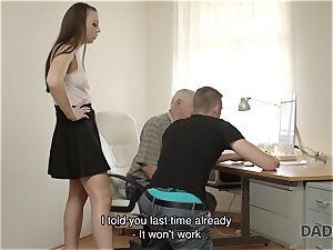 DADDY4K. father and youthful gal hot hook-up in sofa culminates with internal cumshot