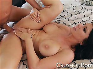 crush gals - Romi Rain enjoys a good rock hard boning