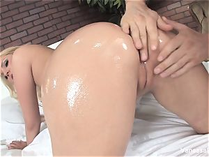 super cute Vanessa cage gets boned on the sofa
