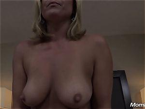 hot blonde mummy internal ejaculation sensation