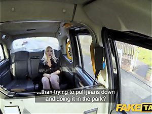 fake cab ash-blonde cougar Victoria Summers boinked in a taxi