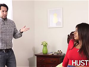 super steaming stepsis Ella Knox leaned over and humped firm