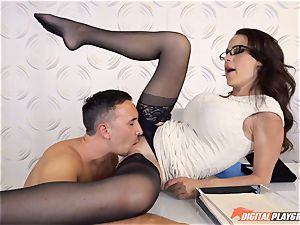 Mckenzie Lee gets a treat for her gash at her office