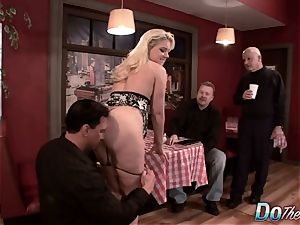 blond wifey butt ravaged as Cuck watches