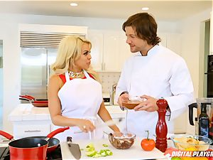 Luna starlet and Aria Alexander cooking up and climax with Jean Val Jean