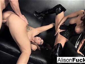 3-way gonzo feisty hookup with Alison