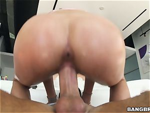 Adria Rae pulverized in her raw minge
