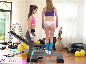 FitnessRooms steamy honeys having fuck-a-thon in the gym