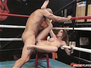 Alexis Adams beaver wrinkled in the boxing ring by huge meatpipe